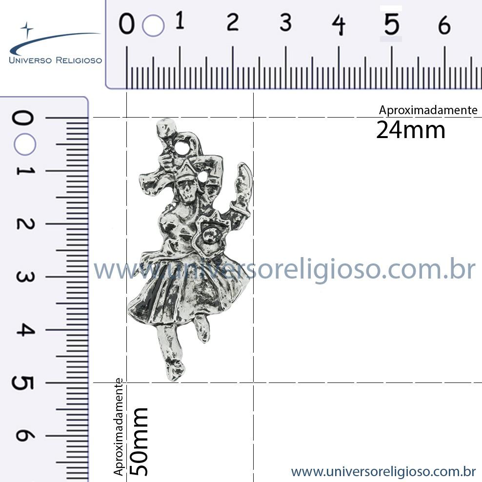 Oxaguiã - Níquel Velho - 50mm  - Universo Religioso® - Artigos de Umbanda e Candomblé