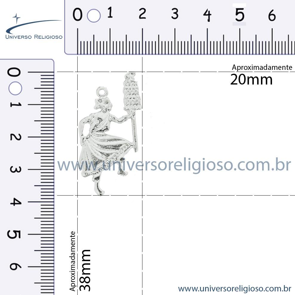 Oxalá - Níquel - 38mm  - Universo Religioso® - Artigos de Umbanda e Candomblé