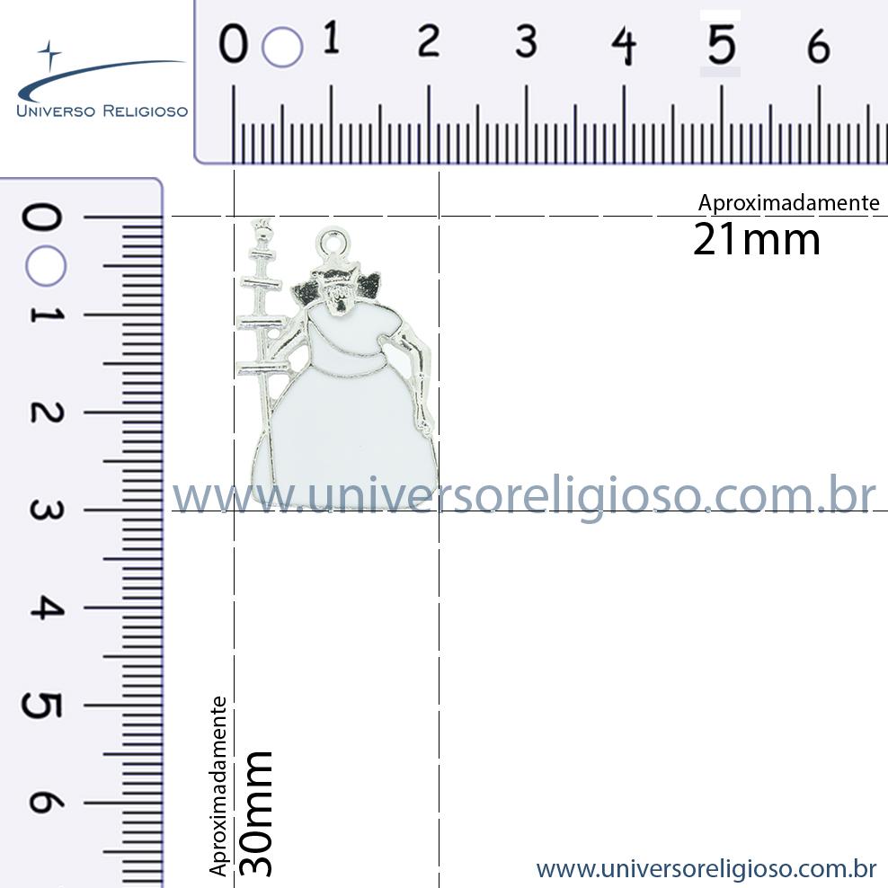 Oxalá - Níquel e Resina - 30mm  - Universo Religioso® - Artigos de Umbanda e Candomblé