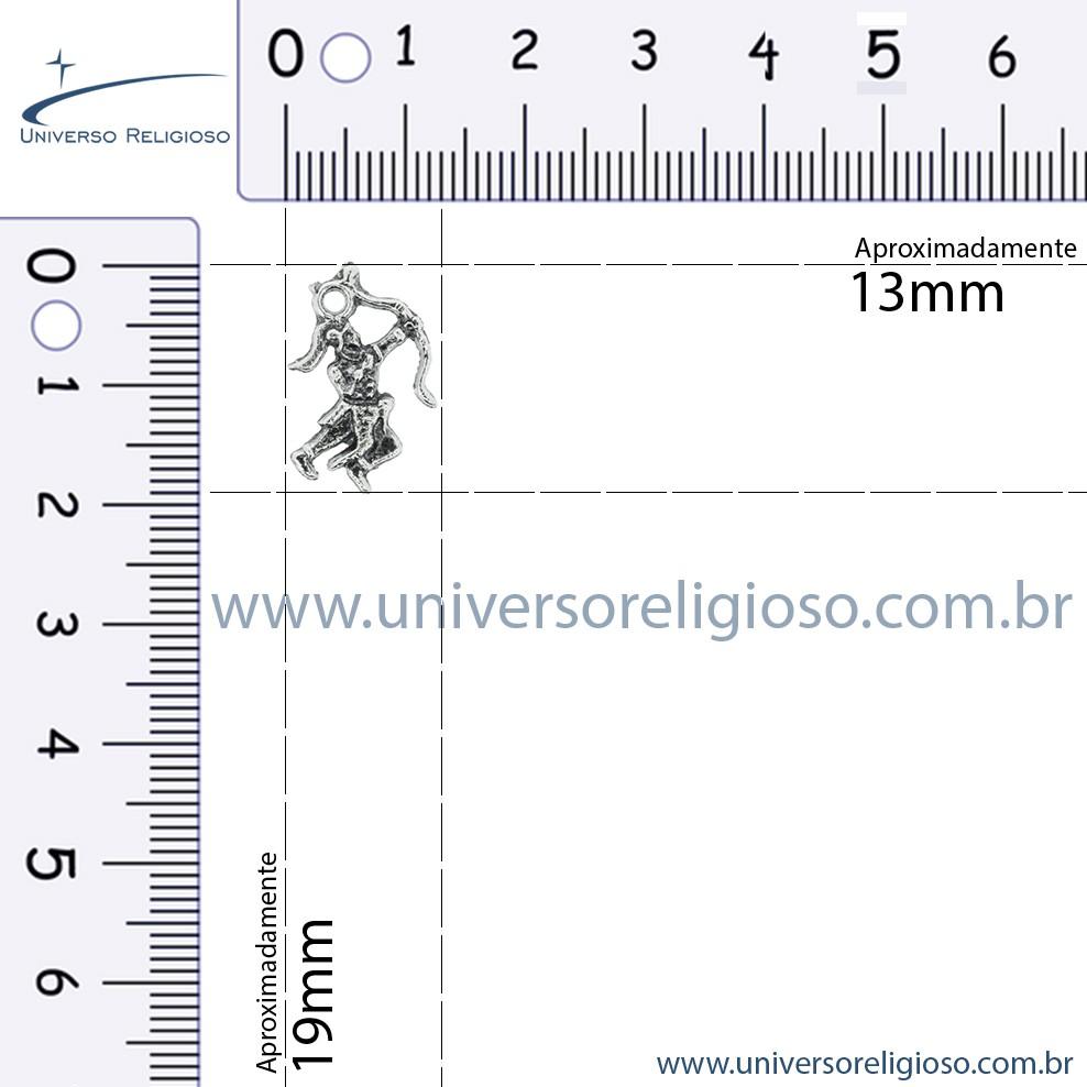 Oxóssi - Níquel Velho - 19mm  - Universo Religioso® - Artigos de Umbanda e Candomblé