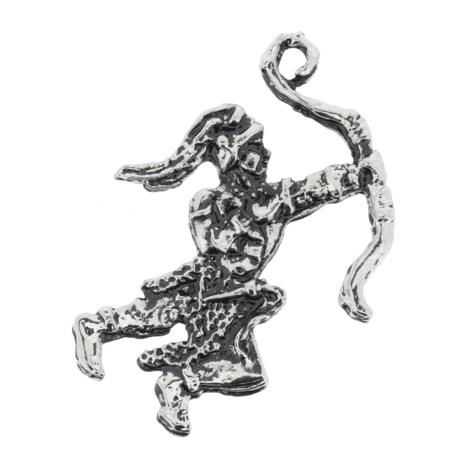 Oxóssi - Níquel Velho - 43mm  - Universo Religioso® - Artigos de Umbanda e Candomblé