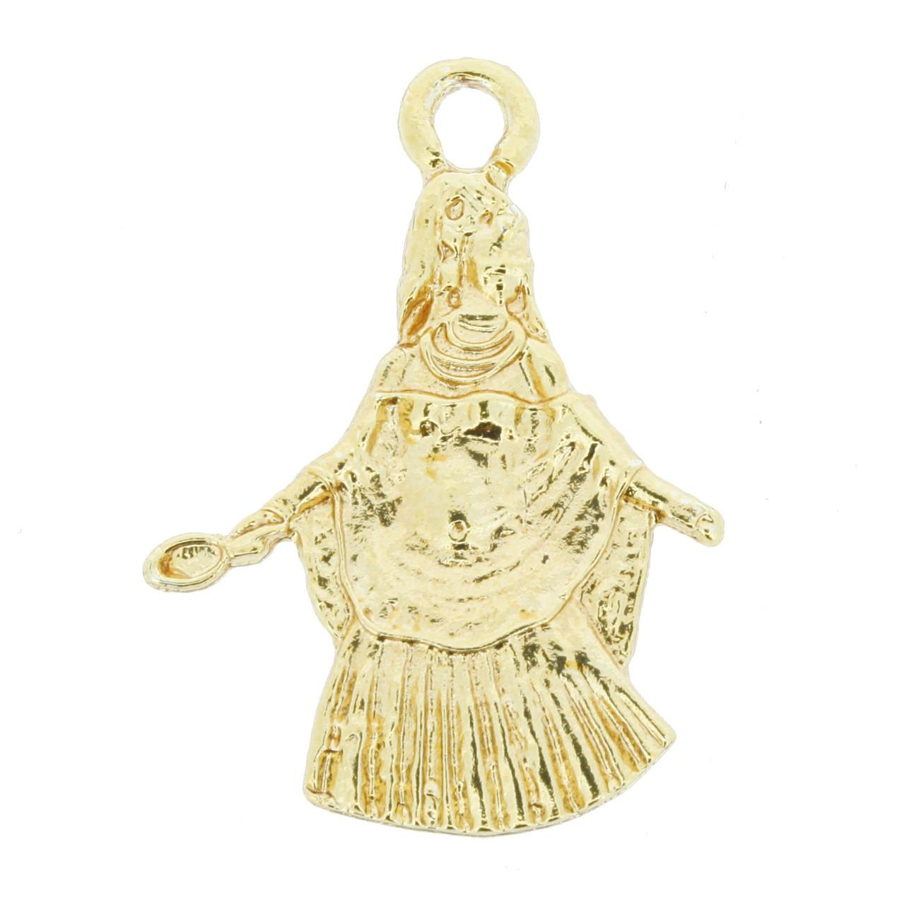 Oxum - Dourada - 34mm  - Universo Religioso® - Artigos de Umbanda e Candomblé