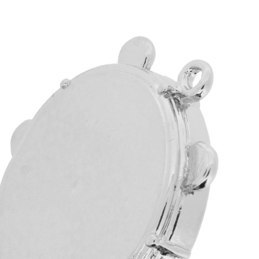 Pandeiro - Níquel - 35mm  - Universo Religioso® - Artigos de Umbanda e Candomblé