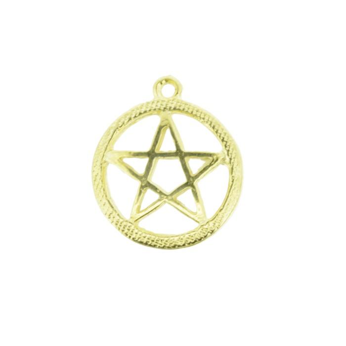 Pentagrama - Dourado - 20mm  - Universo Religioso® - Artigos de Umbanda e Candomblé
