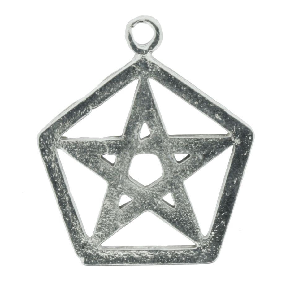 Pentagrama - Níquel - 30mm  - Universo Religioso® - Artigos de Umbanda e Candomblé