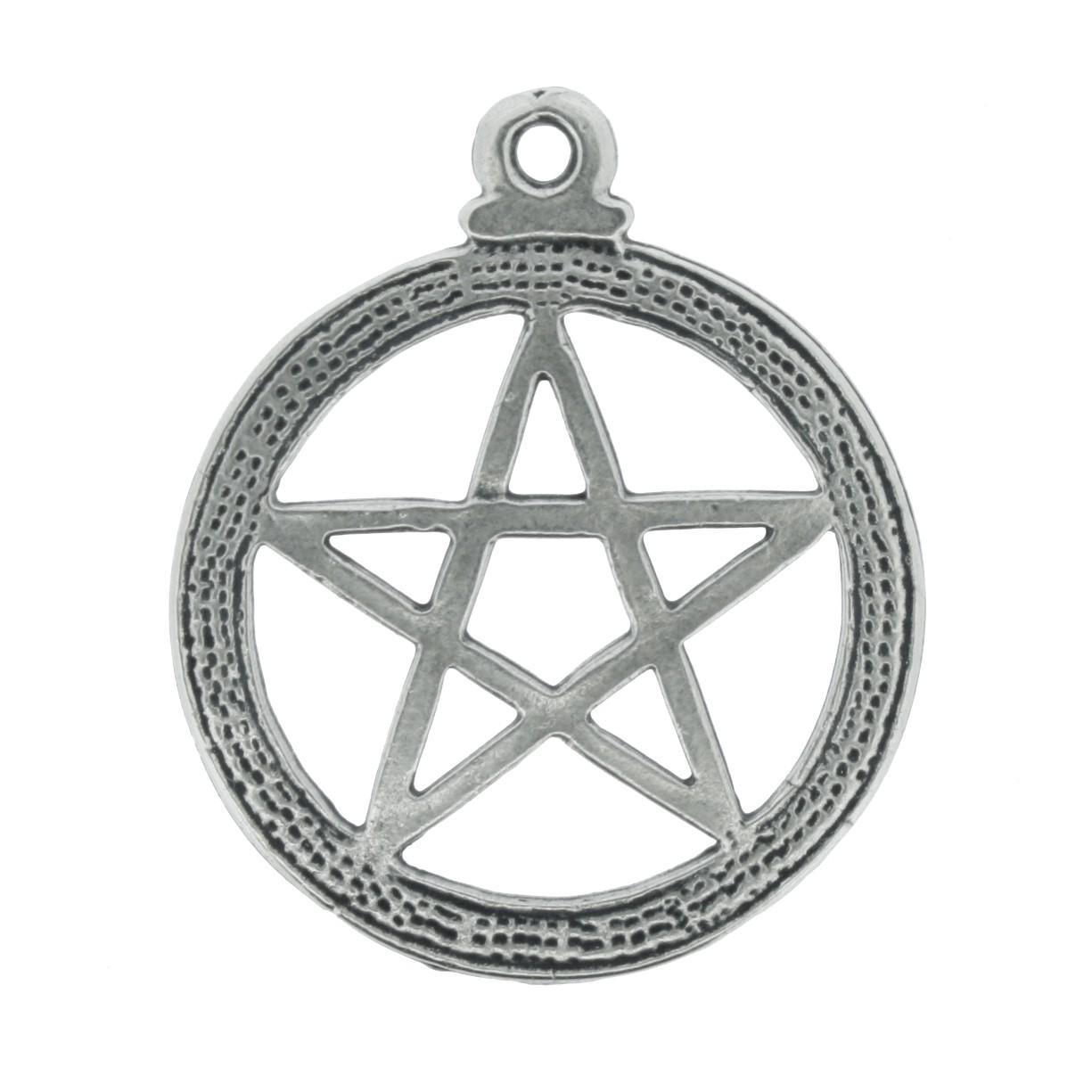 Pentagrama - Níquel Velho - 20mm  - Universo Religioso® - Artigos de Umbanda e Candomblé