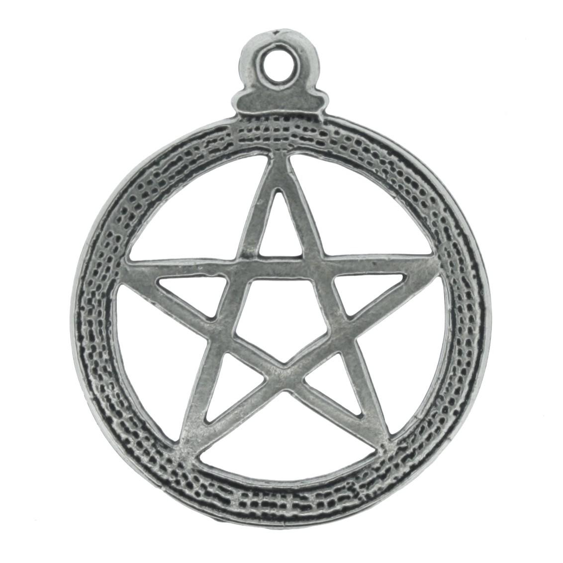 Pentagrama - Níquel Velho - 33mm  - Universo Religioso® - Artigos de Umbanda e Candomblé