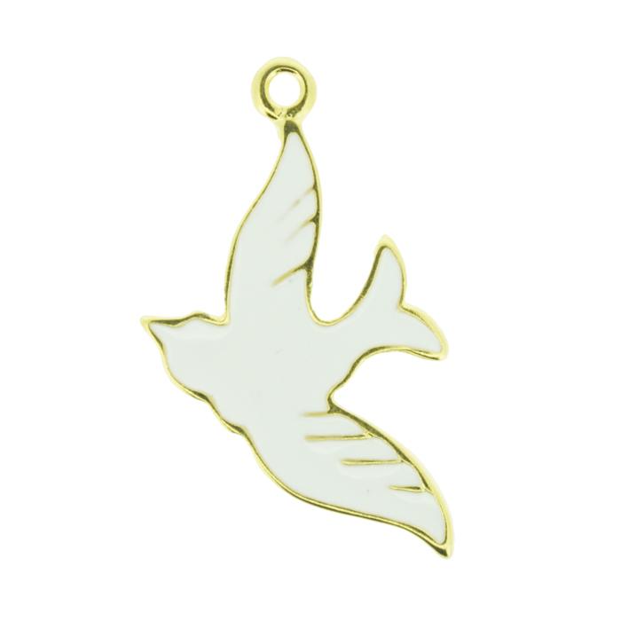 Pingente - Metal - Divino Espírito Santo - Dourado - 3,8cm  - Universo Religioso® - Artigos de Umbanda e Candomblé
