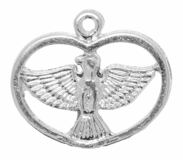 Pingente - Metal - Divino Espírito Santo - Níquel - 1,9cm - 01 Peça  - Universo Religioso® - Artigos de Umbanda e Candomblé