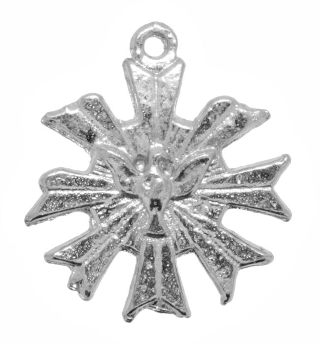 Pingente - Metal - Divino Espírito Santo - Níquel - 2,3cm - 05 Peças  - Universo Religioso® - Artigos de Umbanda e Candomblé