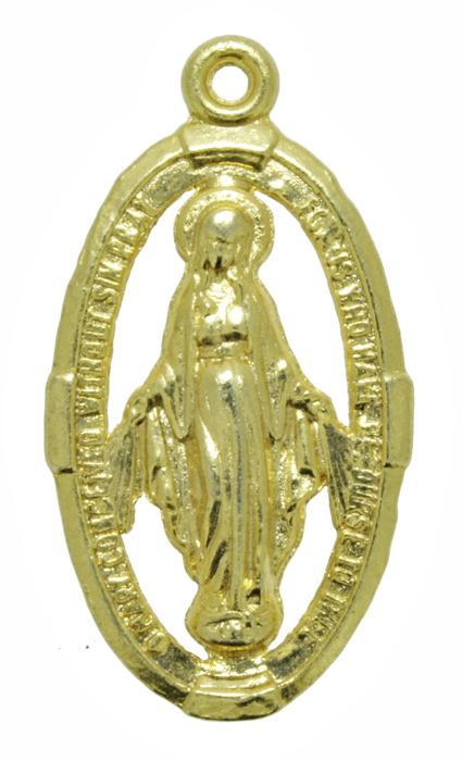 Pingente - Metal - Nossa Senhora de Fátima - Dourado - 4,2cm - 05 Peças  - Universo Religioso® - Artigos de Umbanda e Candomblé