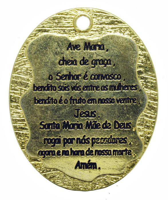 Pingente - Metal - Oração Ave Maria - Dourado - 5,3cm - 01 Peça  - Universo Religioso® - Artigos de Umbanda e Candomblé