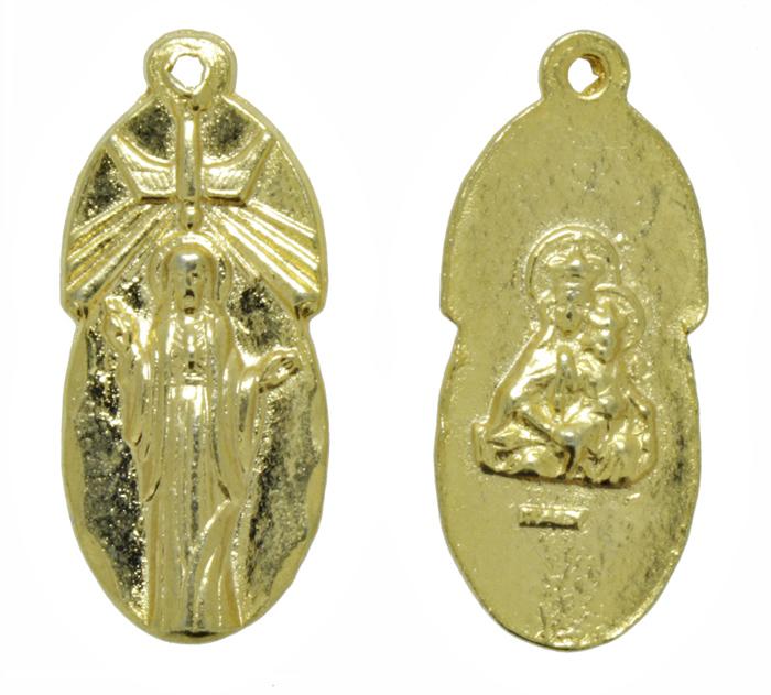 Pingente - Metal - Sagrado Coração de Maria - Dourado - 2,7cm - 10 Peças  - Universo Religioso® - Artigos de Umbanda e Candomblé