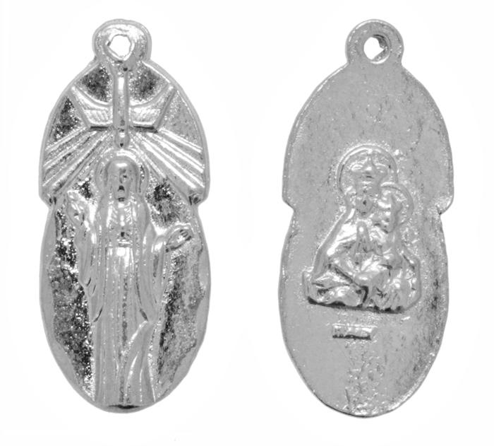 Pingente - Metal - Sagrado Coração de Maria - Níquel - 2,7cm - 10 Peças  - Universo Religioso® - Artigos de Umbanda e Candomblé