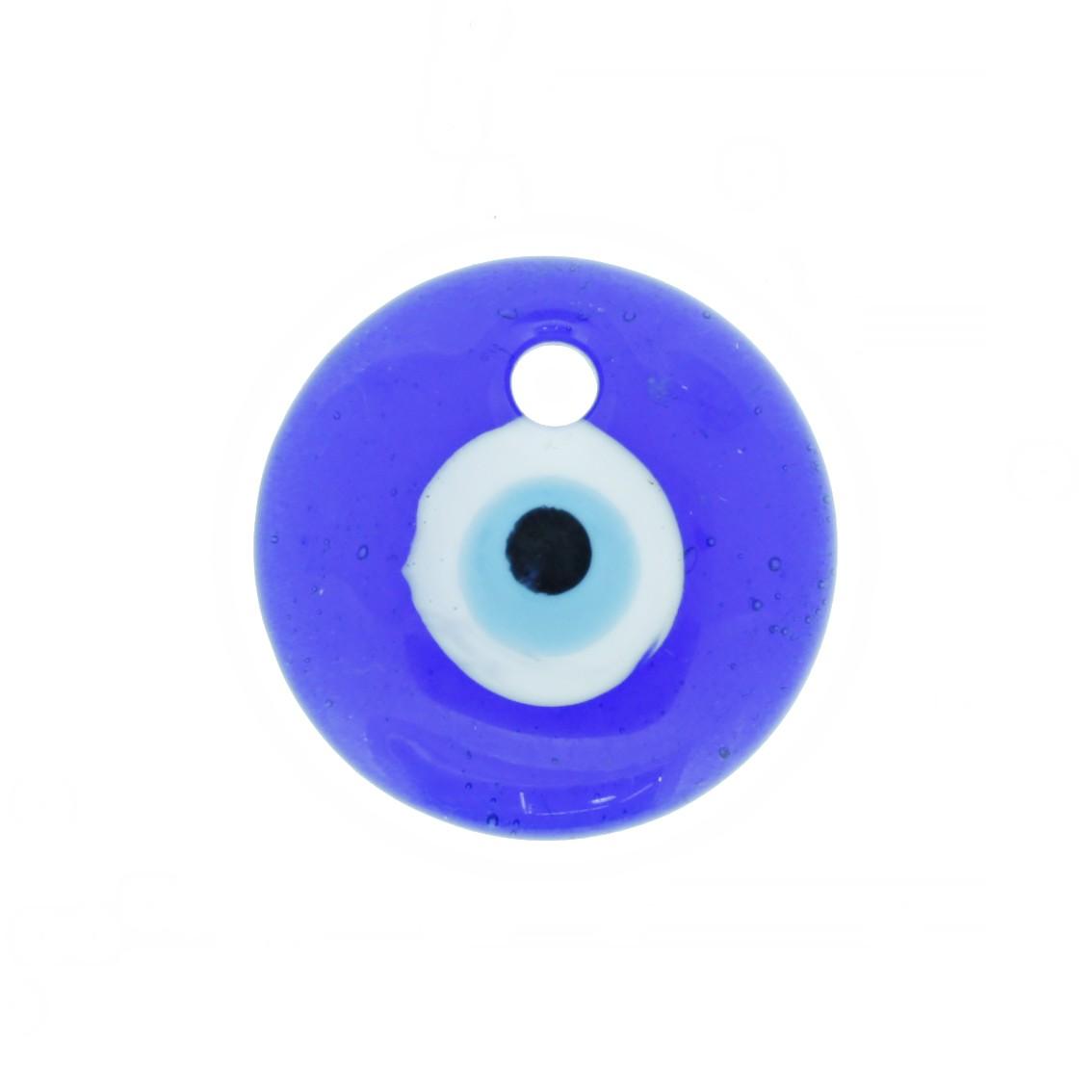 Pingente Olho Grego - Vidro - 30mm  - Universo Religioso® - Artigos de Umbanda e Candomblé