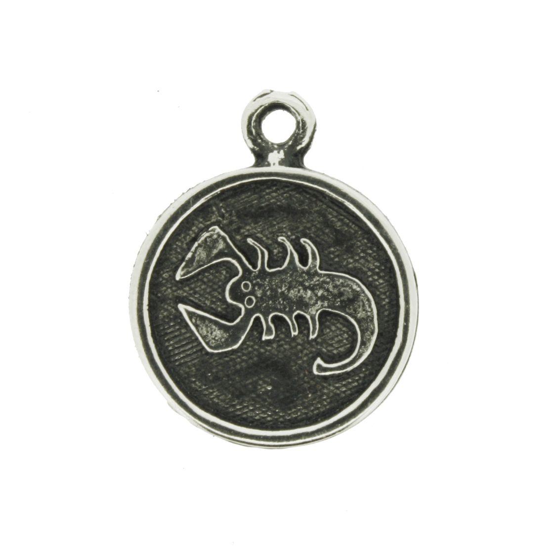 Pingente - Signo Escorpião - 21mm  - Universo Religioso® - Artigos de Umbanda e Candomblé
