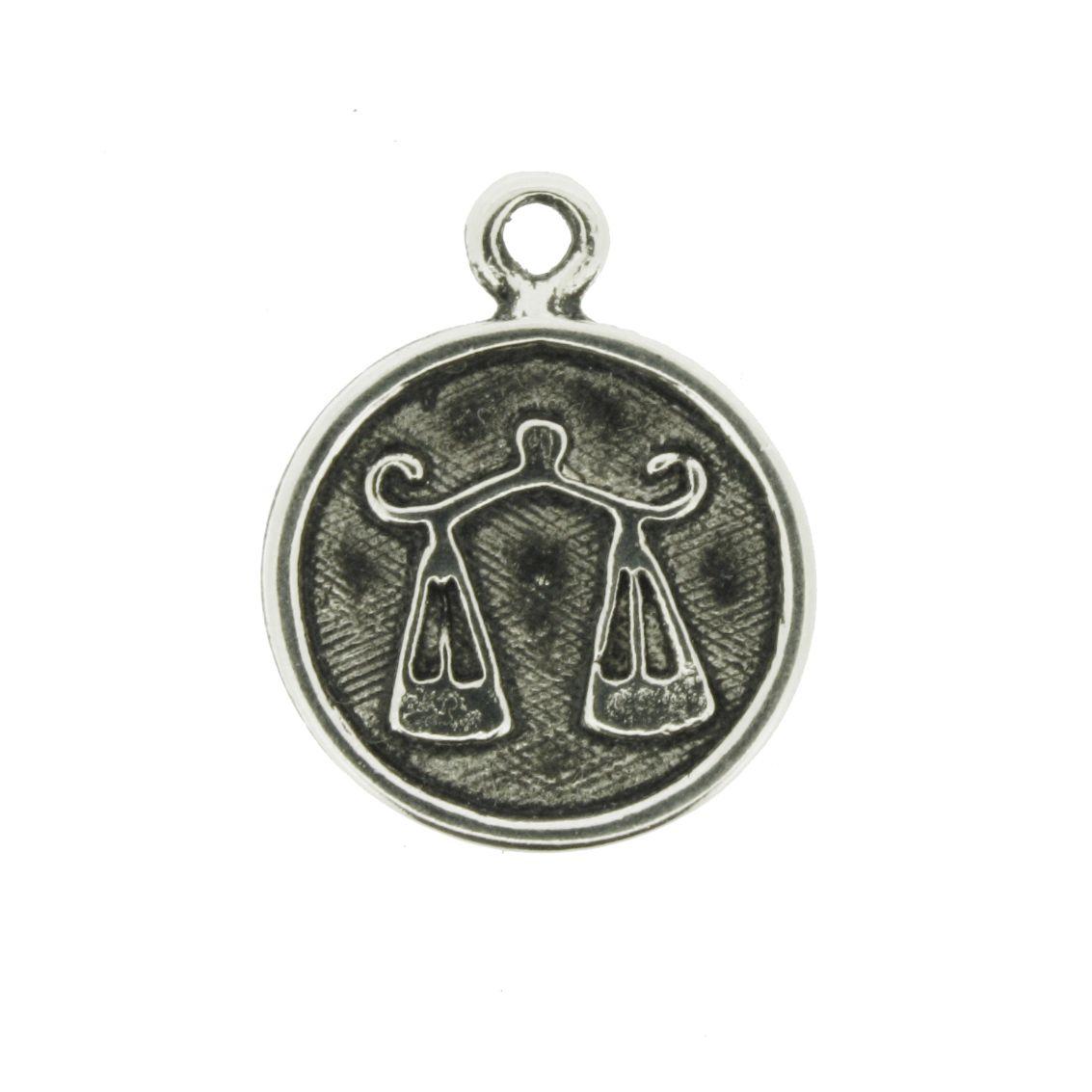 Pingente - Signo Libra - 21mm  - Universo Religioso® - Artigos de Umbanda e Candomblé