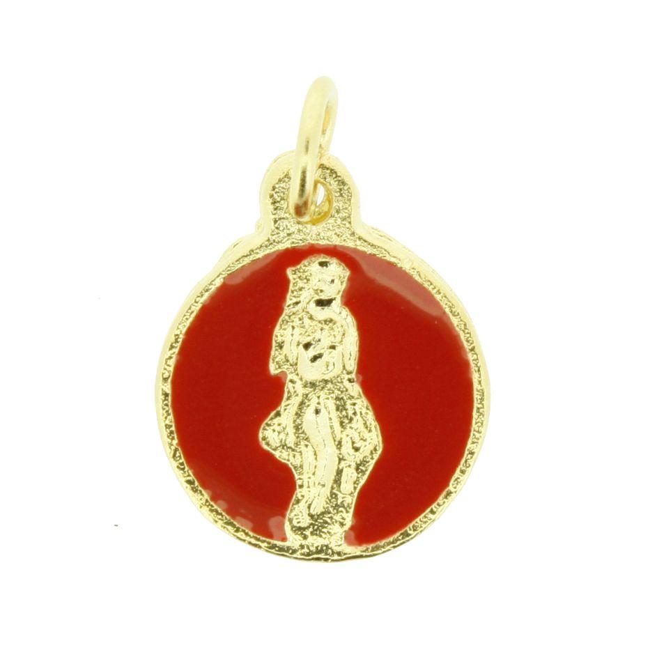 Pombagira - Dourada e Resina Vermelha- 14mm  - Universo Religioso® - Artigos de Umbanda e Candomblé