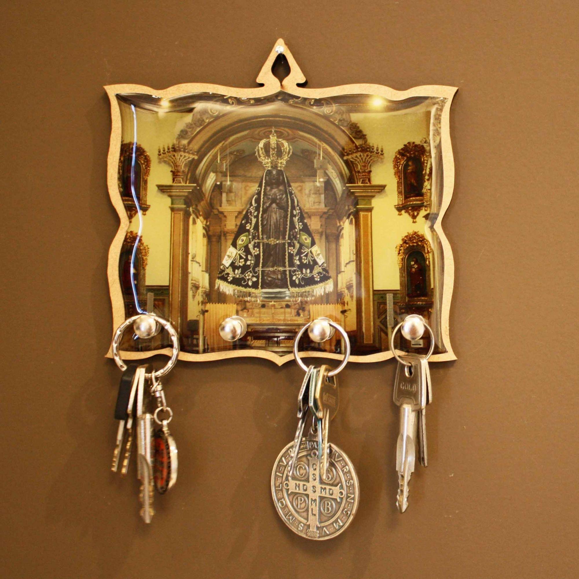 Porta Chaves - Nossa Senhora Aparecida  - Universo Religioso® - Artigos de Umbanda e Candomblé