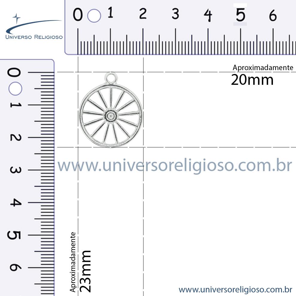 Roda Cigana - Níquel - 23mm  - Universo Religioso® - Artigos de Umbanda e Candomblé