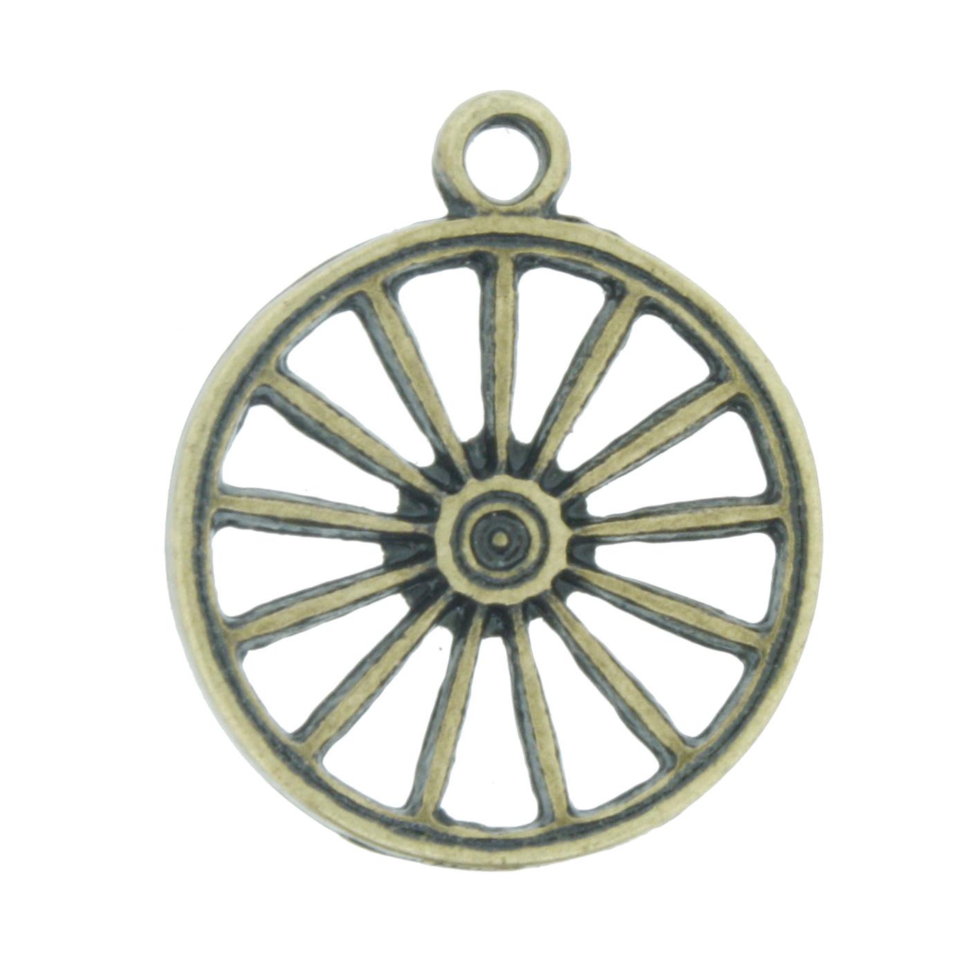 Roda Cigana - Ouro Velho - 23mm  - Universo Religioso® - Artigos de Umbanda e Candomblé