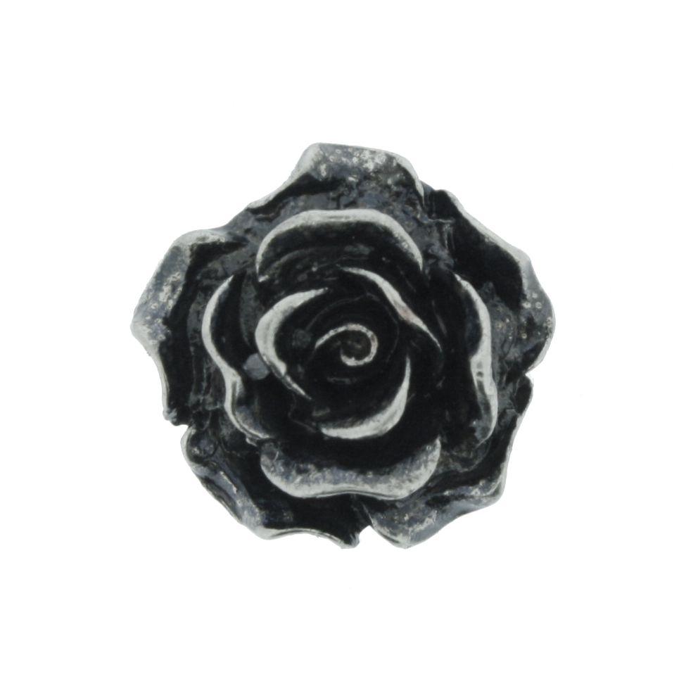 Rosa - Níquel Velho - 15mm  - Universo Religioso® - Artigos de Umbanda e Candomblé