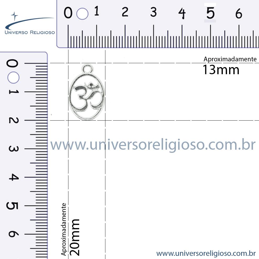 Simbolo Om - Dourada - 20mm  - Universo Religioso® - Artigos de Umbanda e Candomblé