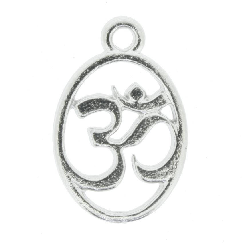 Simbolo Om - Níquel - 20mm  - Universo Religioso® - Artigos de Umbanda e Candomblé