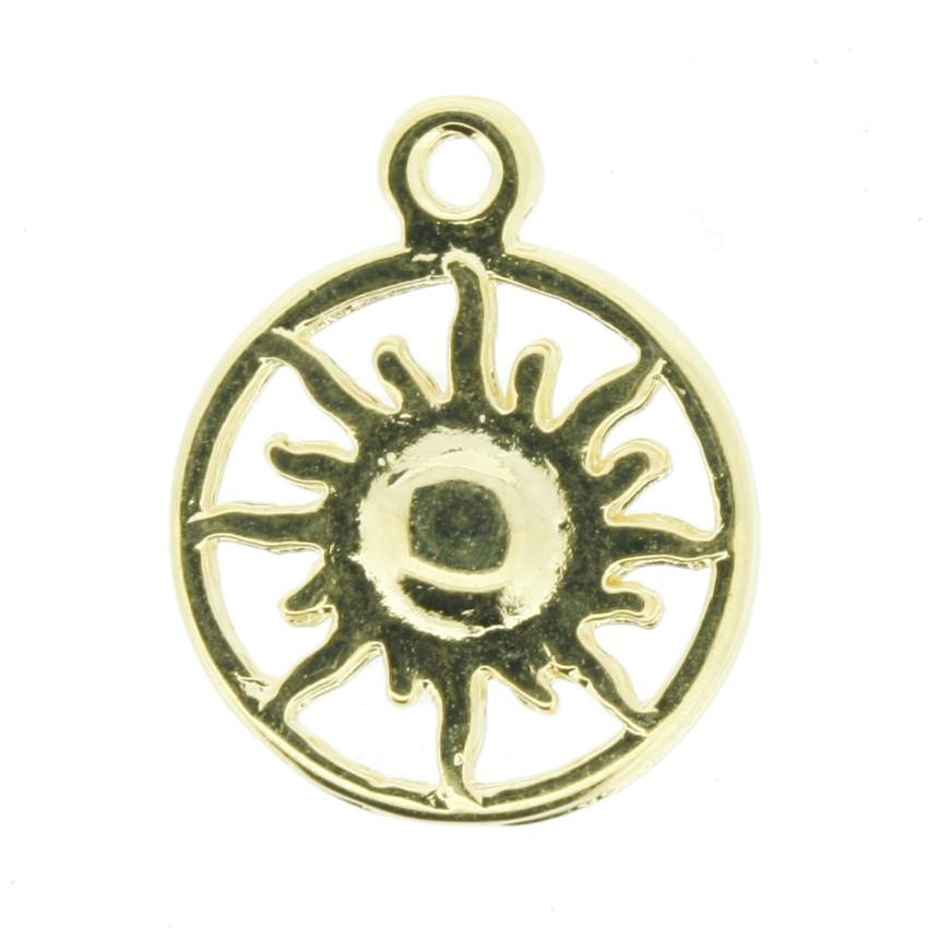 Sol - Dourado - 20mm  - Universo Religioso® - Artigos de Umbanda e Candomblé