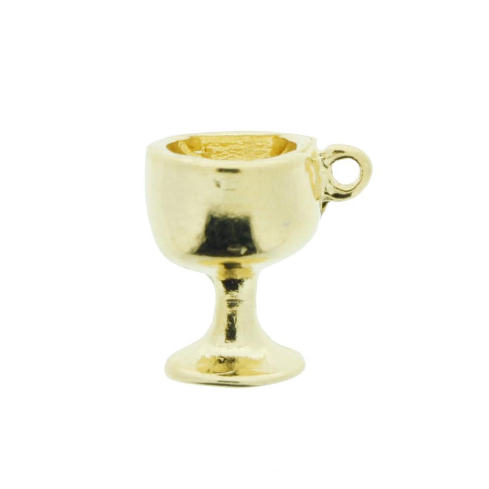 Taça - Dourada - 18mm  - Universo Religioso® - Artigos de Umbanda e Candomblé