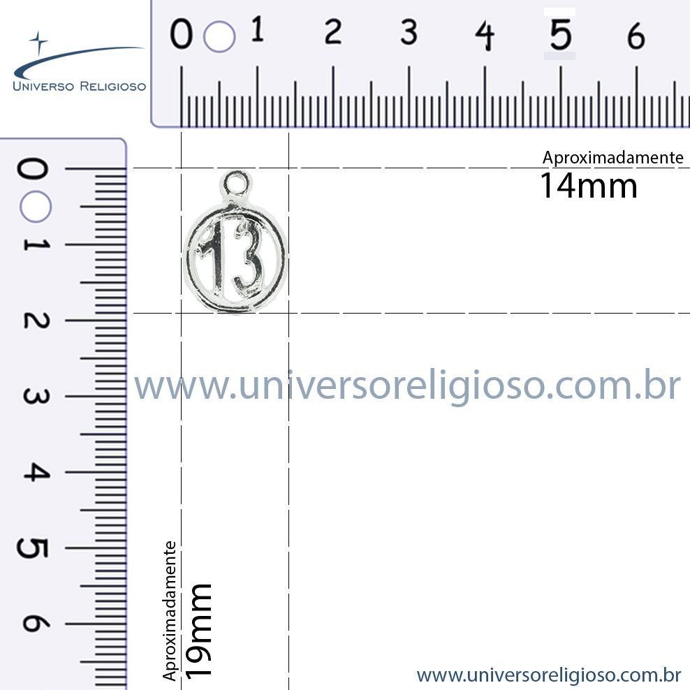 Treze - Dourado - 19mm  - Universo Religioso® - Artigos de Umbanda e Candomblé