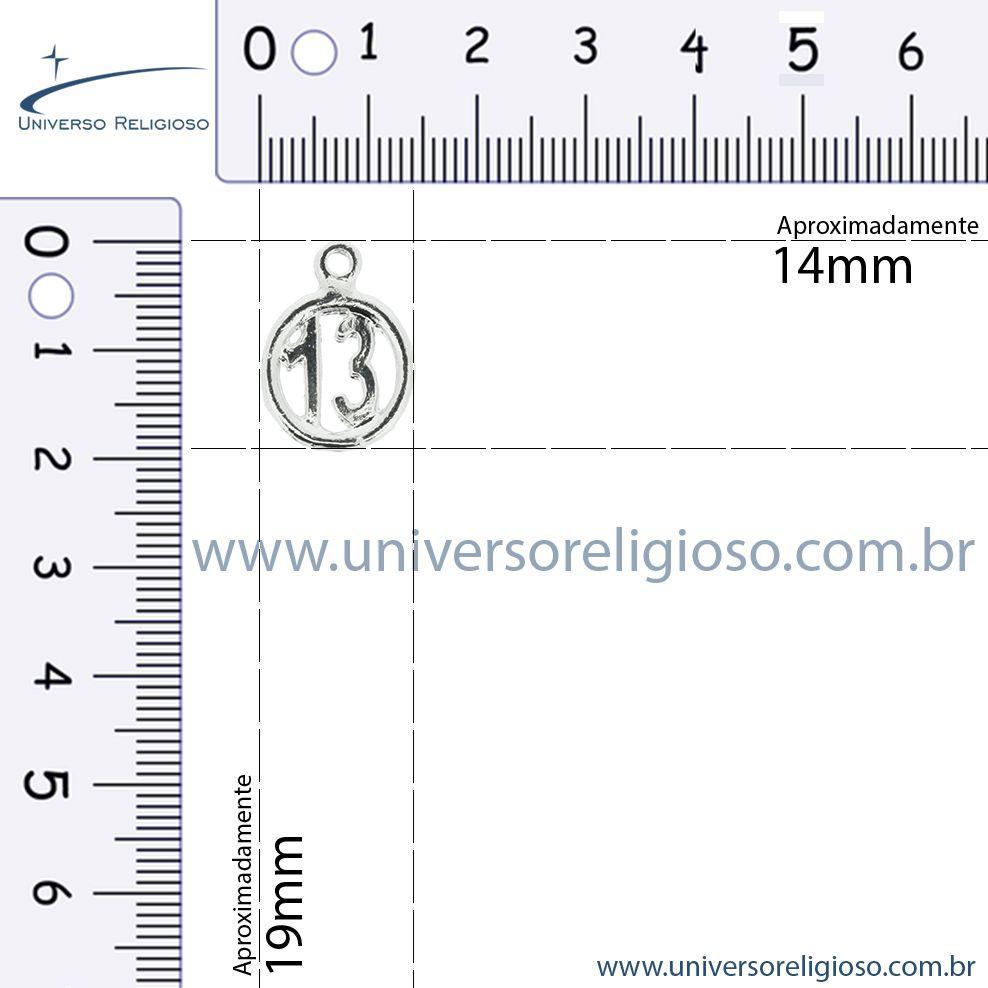 Treze - Níquel - 19mm  - Universo Religioso® - Artigos de Umbanda e Candomblé
