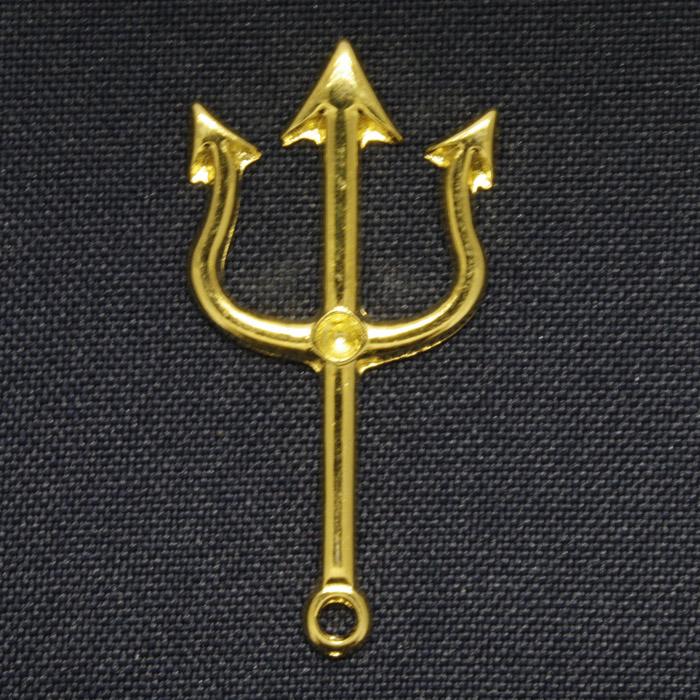 Tridente - Dourado - 45mm  - Universo Religioso® - Artigos de Umbanda e Candomblé