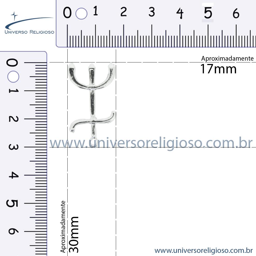 Tridente - Pombagira - Níquel - 30mm  - Universo Religioso® - Artigos de Umbanda e Candomblé