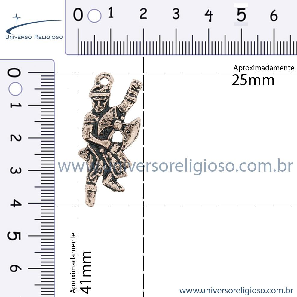 Xangô - Cobre Velho - 41mm  - Universo Religioso® - Artigos de Umbanda e Candomblé