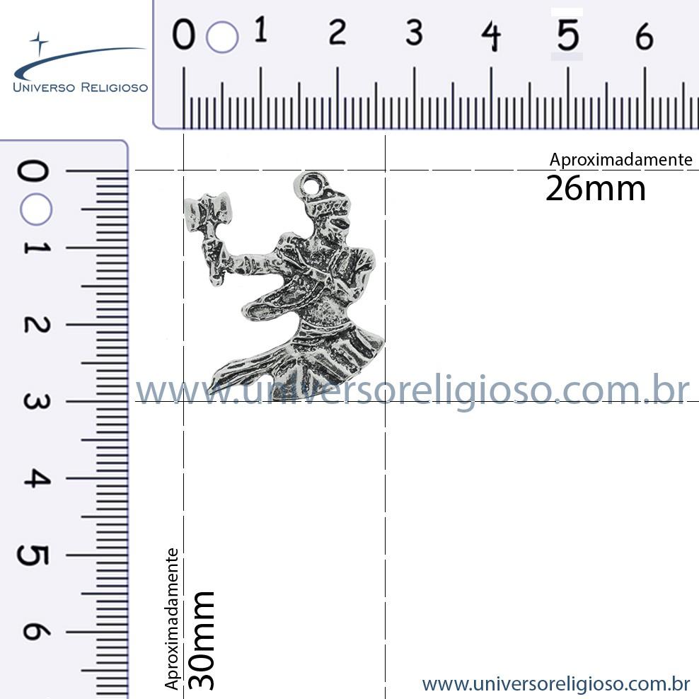 Xangô - Ouro Velho - 30mm  - Universo Religioso® - Artigos de Umbanda e Candomblé