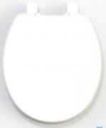 Assento Sanitário Branco para linhas Universais/Ovais Solution em Polipropileno Tupan