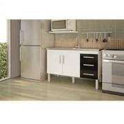 Gabinete para Cozinha Branco/Preto Flex MGM