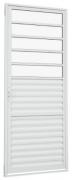 Porta de Abrir 217x087 Veneziana com Divisão Horizontal Alumínio Alumislim Sasazaki