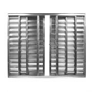 Veneziana Sem Grade 6 Folhas Aluminio Brilhante com Vidro Liso Facce