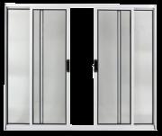 Vitrô 4 Folhas  Alumínio Branco 100x150cm com Vidros Facce