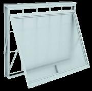 Vitrô Branco Maxim-Ar com Grade Quadriculada 60cmx80cm Kompacta Sasazaki