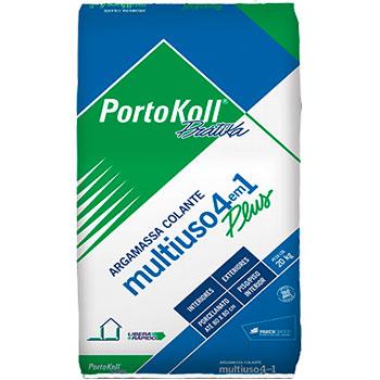Argamassa Multiuso Cinza 4 em 1 Portokoll  - Comercial Tuan Materiais para Construção