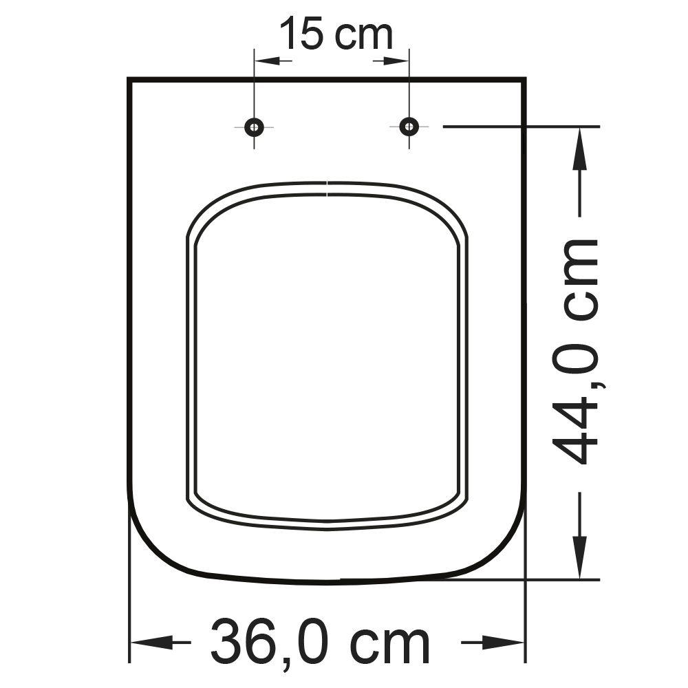Assento em Polipropileno para a Louça Misti Palha  - Comercial Tuan Materiais para Construção