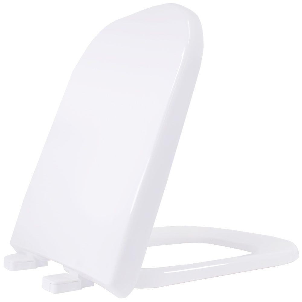 Assento em Polipropileno para as Louças Debba/Gap/Quadra/Polo/Unic Soft Close Branca  - Comercial Tuan Materiais para Construção