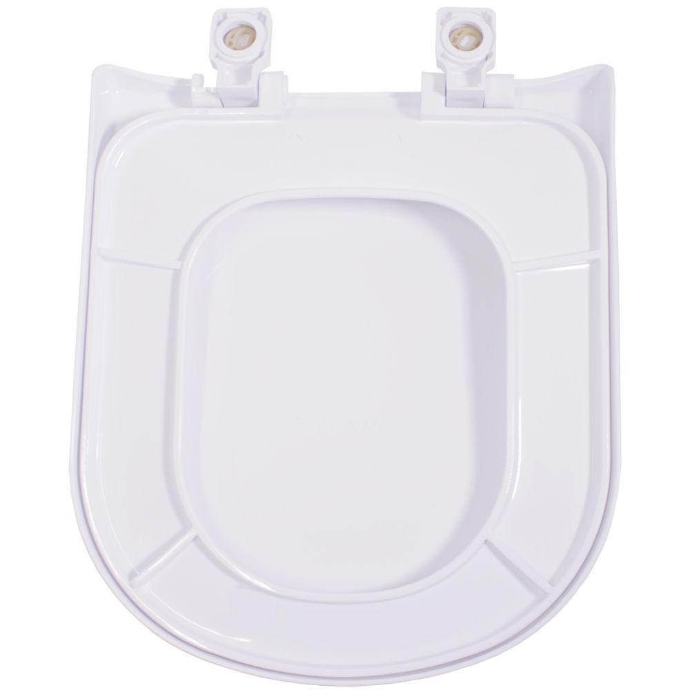 Assento em Polipropileno para as Louças Vogue Plus/ Life/ Flox/ Square Soft Close Branco  - Comercial Tuan Materiais para Construção
