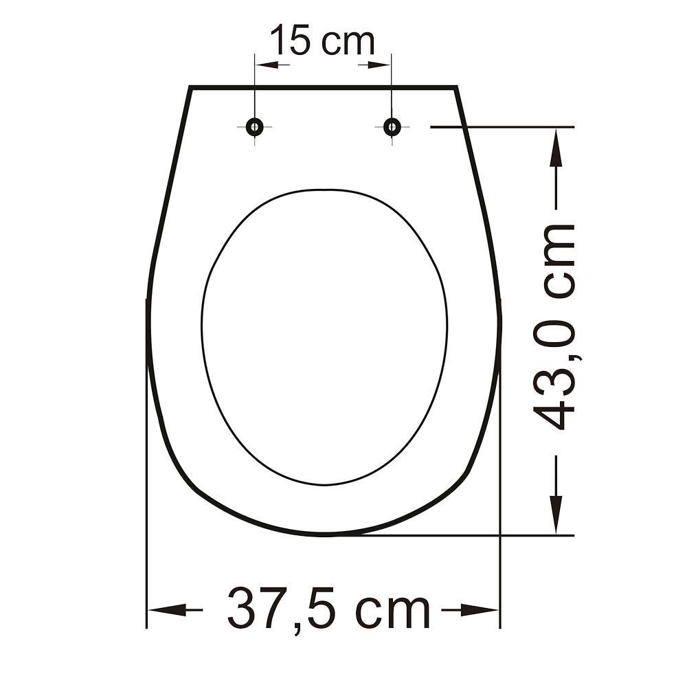 Assento em Polipropileno para Louça Aspen/ Fast/Álamo  Soft Close Creme  - Comercial Tuan Materiais para Construção