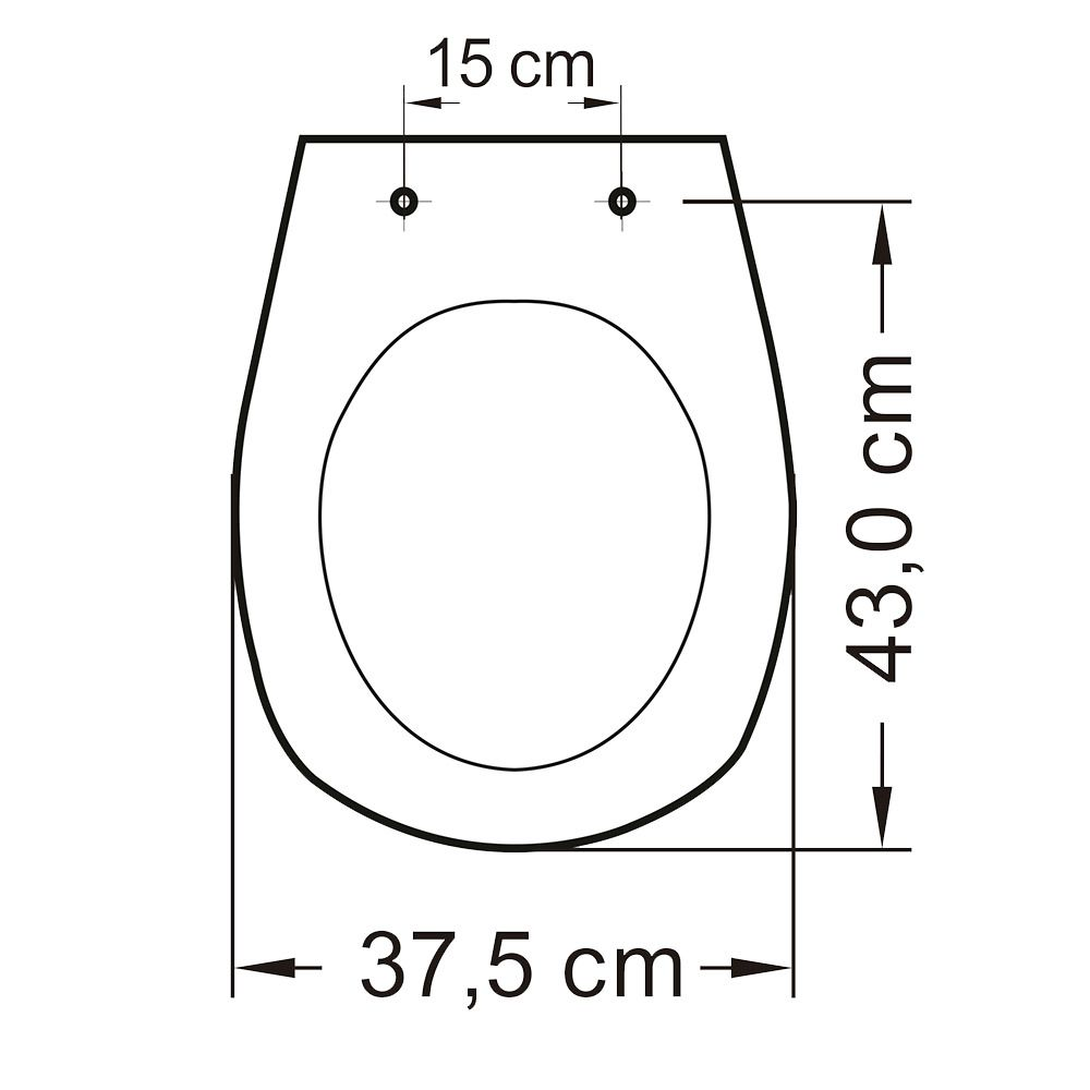 Assento em Polipropileno para Louça Aspen/ Fast/Álamo  Soft Close Preto  - Comercial Tuan Materiais para Construção