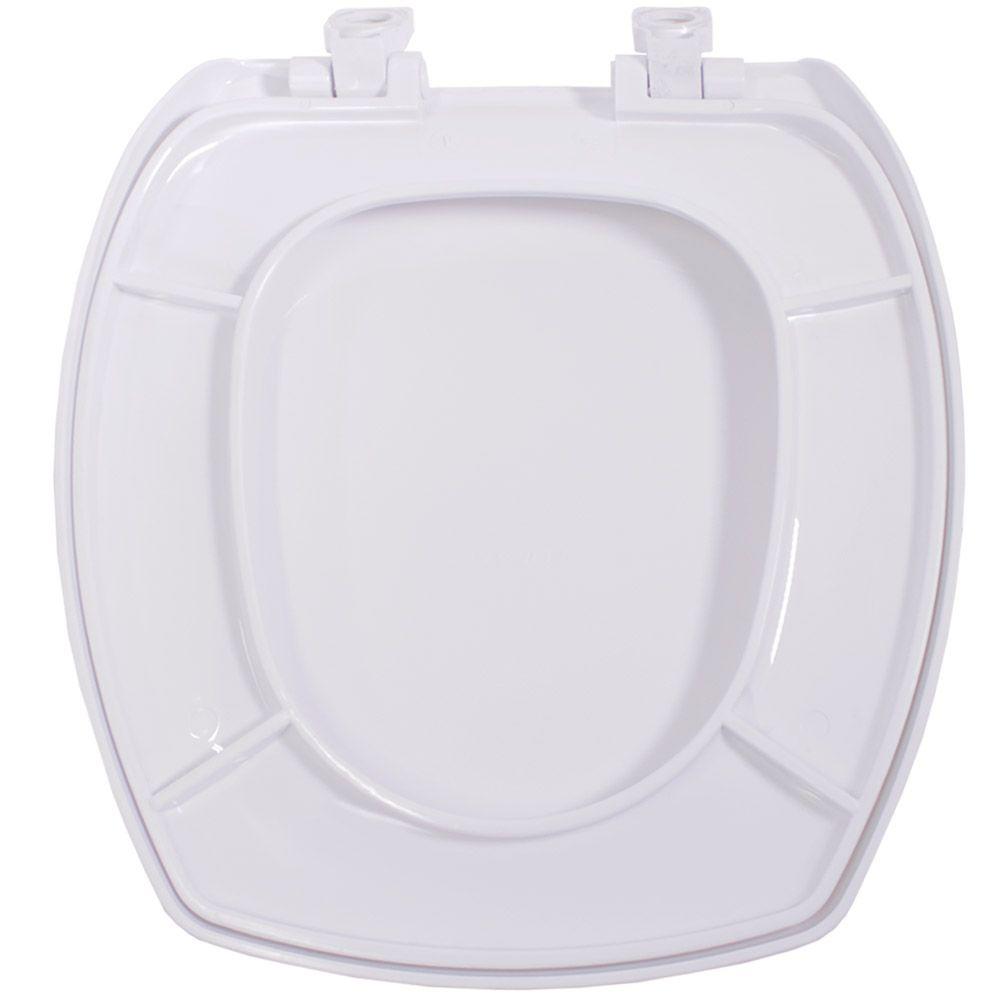 Assento em Polipropileno para Louça Thema Branco Soft Close  - Comercial Tuan Materiais para Construção