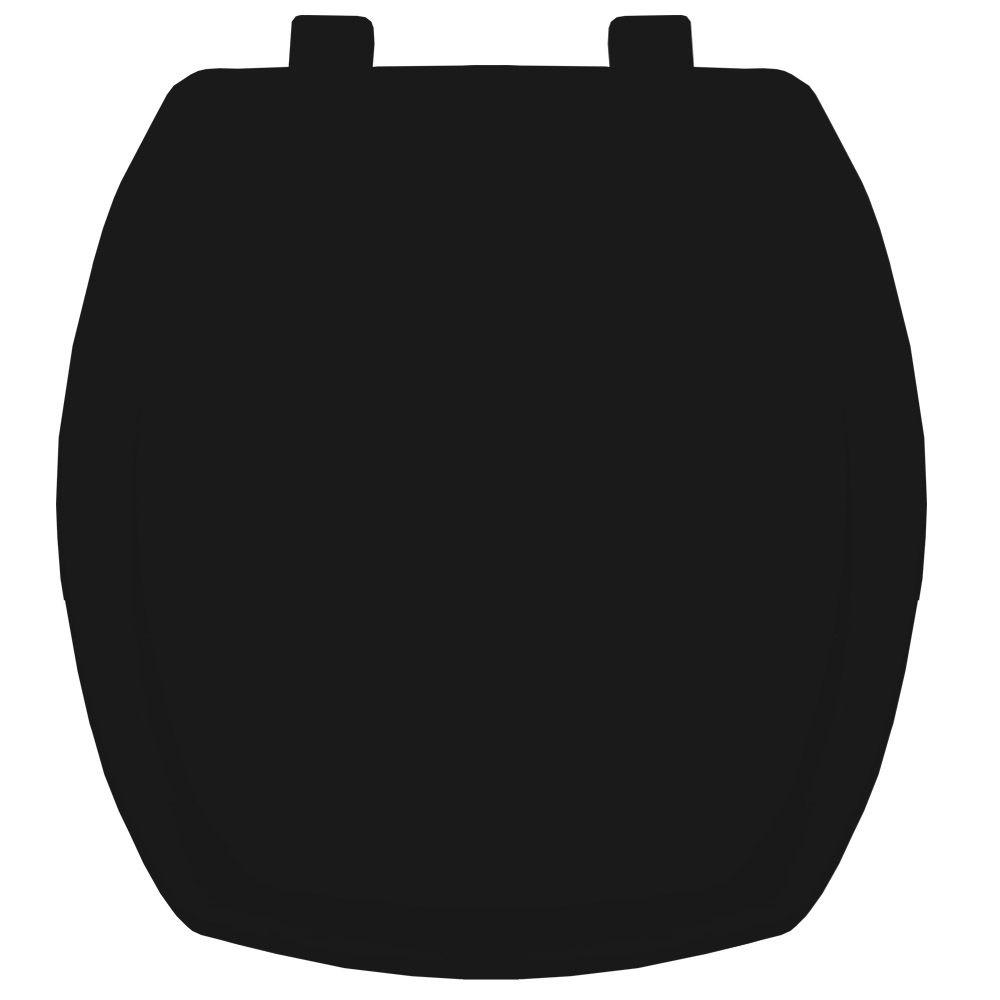 Assento em Polipropileno para Louça Thema Preto  - Comercial Tuan Materiais para Construção